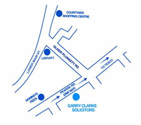 Garry Clarke Solicitors Location Map